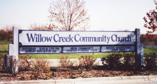 Churches municipal diamond sign for Willow creek designs